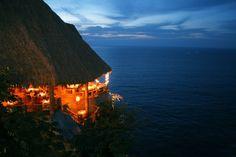 Romantic dinner on our honeymoon (Le Kliff Puerto Vallarta)