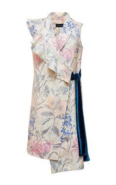 Sleeveless Wrap Dress by DIANA KVARIANI for Preorder on Moda Operandi
