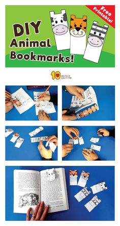 DIY Animal Bookmarks for Kids Does your child love to read? I'll bet he or she go crazy when they can't remember which page they were on…. So, to help out with this, we've created a fun and cute bookmark with animals. All you'll need for this activity, are:  1. Our printable sheet  2. Scissors  3. Crayons  Just follow the tutorial and have fun!