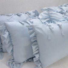 Niebieskie poduszki dekoracyjne 3 sztuki