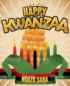 55 best happy kwanzaa images on pinterest happy kwanzaa stock poster with view of traditional elements to celebrate kwanzaa and the m4hsunfo