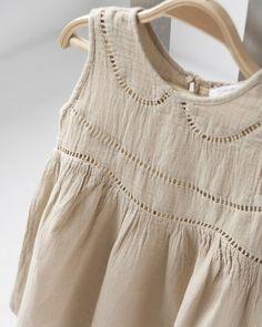 caramel baby 2012SS ベビーAYLA BABY DRESS アイレットワンピース (bg:ベージュ) 18M-24M ≪COUPRIO≫