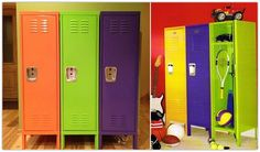 Colorful storage for boys room or play room