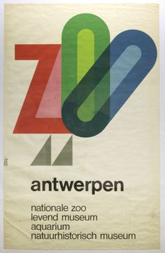 Antwerp Zoo - 1970's poster by André Pasture
