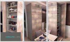 Projeto de marcenaria ajuda a encobrir viga e cria armário duplo. Por Carolina Claro
