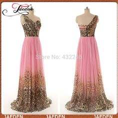 Find More Evening Dresses Information about HE196 Actual Images 2014 New Design Prom Gowns Formal Occasion One Shoulder Leopard Print Pink Chiffon Cheap Evening Dresses ,High Quality Evening Dresses from GMBridal on Aliexpress.com