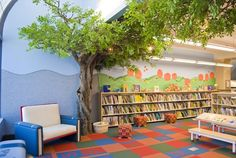 Children's Room with storytimes under the trees
