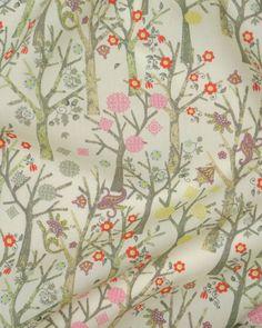 Liberty Tana Lawn Fabric - Tuesday Trees on Truro Fabrics website