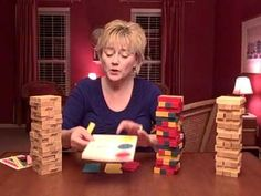Pam Dyson of the STL Ctr for Play Tx Training gives different modifications of Jenga to encourage emotional expression - would be great for small groups at our bereavement camps