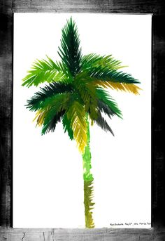 """Visit my ExcitementAdventure shop at etsy dot com for this giclee print of a Florida palm! You choose the size! All orders must be under 17"""" inches in height or width. I can customize any size for your frame, so long as it is under 17"""" inches. All work is printed on archival paper with inkjet. (Frame not included.) Thank you so very much for taking an interest in my work. I look forward to bringing you more paintings, drawings, and three-dimensional work in the future!"""