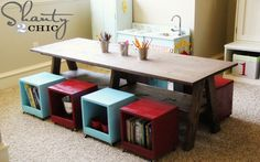 DIY play tables