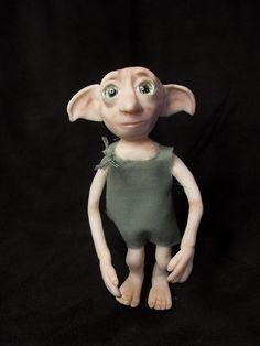 baking clay crafts harry potter   OOAK sculpt House Elf like Harry Potters Dobby by TreasuredByU