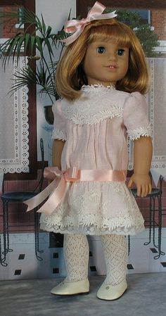 This would be perfect for Rebecca    pink linen Nel 1 by Sugarloaf Doll Clothes, via Flickr