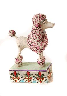 """Jim Shore Dogs  Jim Shore Heartwood Creek  Poodle Figurine """"Lulu""""  Materials: Stone Resin  Size: 5.5""""    RETIRED    Your Price: $12.95"""
