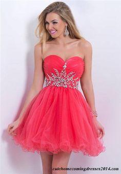 Short French Rose Beaded Homcoming Dresses Blush 9860