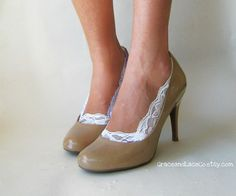 Lace Peep Socks  - weird or fab?  Answers the problem of toe cleavage :)