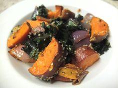 Kale Sweet Potato Quinoa (or Hemp) Bowl.