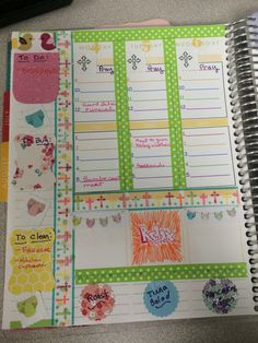 Erin condren novice decorating using items from NicoleReinsDesigns items and washi.
