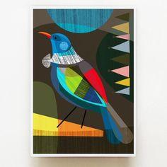 Proud New Zealand Tui, Bird, Print, Tui Bird, Bird Graphic, Bird Coloring Pages, Kiwiana, Wall Art For Sale, Create Image, Abstract Watercolor, Abstract Art, Bird Prints