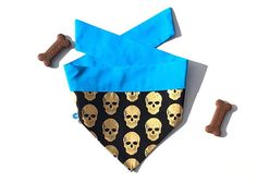 Las Calaveras 💀 This bandana is reversible and ties up around your dogs neck, so you can mix up your dogs style and ensure they are always looking dapper 🐶 This bandana is hand made in Canberra, Australia. I strive to photograph and describe all our bandanas as accurately as Dog Lover Gifts, Dog Lovers, Up Dog, Gold Skull, Looking Dapper, Tied Up, Dog Bandana, Bandanas, Heat Transfer Vinyl