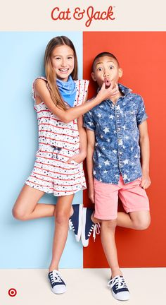 Cat & Jack's star-spangled pieces are exactly what any kid needs to get in on the Fourth of July excitement. The Americana collection has everything from swimwear to accessories to boys' and girls' apparel, all full of stars and stripes in red, white and blue. Plus, each piece is totally mix and match-able and backed by a 1 year guarantee, so kids can wear them on repeat all summer.
