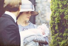 Sybbie with her aunt Mary and her father Tom, Downton Abbey.