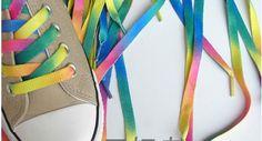 Libero shipping+50pair/lotto, lacci delle scarpe arcobaleno, scarpe da ginnastica lacci delle scarpe, tela scarpa lacci all'ingrosso e al dettaglio