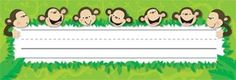 OBlock Books  - Monkey Business Name Plates, $3.99 (http://store.oblockbooks.com/monkey-business-name-plates/)