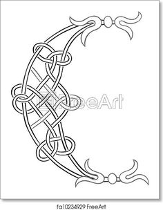Free art print of Celtic Letter C. A Celtic Knot-work Capital Letter C Stylized Outline Zentangle Patterns, Embroidery Patterns, Cross Stitch Patterns, Celtic Symbols, Celtic Art, Celtic Knots, Celtic Alphabet, Islamic Art Calligraphy, Calligraphy Alphabet