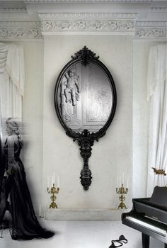 "Boca do Lobo Marie Antoinette Limited Edition Wall Mirror - The mirror is an attitude, an historical fact & an ""époque"". Inspired in the controversy Marie Antoinette & in the greatest times of the French royalty, where impressive & large-scale pieces marked the halls of Palace of Versailles & its luxurious parties."