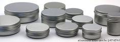 verschiedene Schraubdeckeldosen aus Aluminium (fuer Gewuerze - den kleinsten Durchmesser waehlen - 50, 75 und 100 ml!)