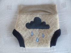 Wool Diaper Cover Rain Cloud Upcycled Wool Cloth diaper soaker