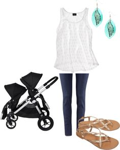 Oh yeah.... My style involves a stroller, love the flowy white top! #stitchfix