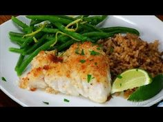 Easy Baked Fish Fillets Recipe Video. Baked with mayo, lime juice, pepper. Top with bread crumbs and drizzle with melted butter. Bake 20 minutes.