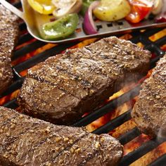 Steak couldn't get any easier or more flavorful -- just a sprinkle of Grill Mates® Steak Rub and onto the grill.
