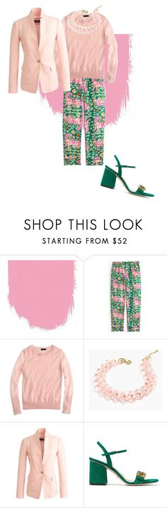"""""""Monday!!"""" by milljcrew ❤ liked on Polyvore featuring Drakes London, J.Crew and Gucci"""