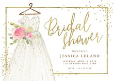 Excellent Free Bridal Shower Invitations free Suggestions This bride's relatives and buddies anticipate gathering at some sort of wedding shower to recognize the future. Wedding Invitation Text, Bridal Shower Invitation Wording, Bridal Shower Flowers, My Bridal Shower, Tropical Bridal Showers, Baby Shower Invitaciones, Flower Dresses, Luxury Flowers, Invitation Templates