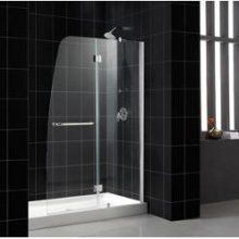 Buy the DreamLine Chrome with Clear Glass Direct. Shop for the DreamLine Chrome with Clear Glass Aqua High x Wide Hinged Frameless Tub Door with Clear Glass and save.