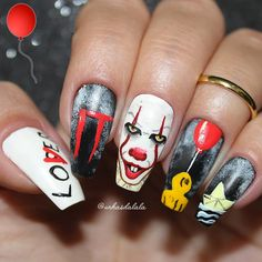 Installation of acrylic or gel nails - My Nails Holloween Nails, Cute Halloween Nails, Halloween 2017, Best Acrylic Nails, Acrylic Nail Designs, Nail Art Designs, Nails Design, My Nails, Hair And Nails