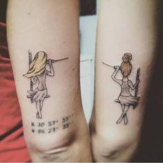 Resultado de imagem para pinterest tattoo sisters no pé