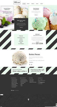 Tasty Ice Cream #website #template. #themes #business #responsive #websitethemes