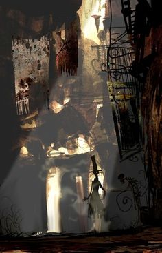"""Back Street - by Neil C. Ross --- done for the film """"Corpse Bride"""""""
