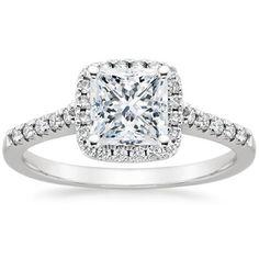18K White Gold Sonora Halo Diamond Ring (1/4 ct. tw.), top view