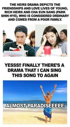 As I read that last line, I felt strangely nostalgic. I do love BoF. Heirs Korean Drama, Korean Drama Funny, Korean Drama Quotes, Korean Dramas, Ji Hoo, Drama Fever, Kdrama Memes, Boys Over Flowers, Korean Music