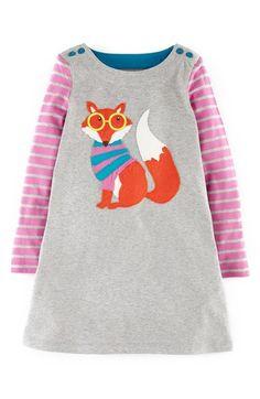 Mini Boden 'Fun' Appliqué Dress (Toddler Girls, Little Girls & Big Girls) available at #Nordstrom
