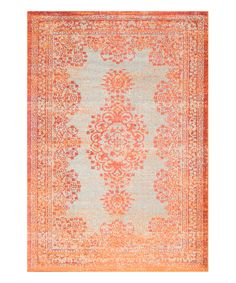 Look at this Orange Moriah Rug on #zulily today!