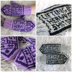 CrossFit mittens, cfsiili, knitting, MyPattern, free finnish pattern
