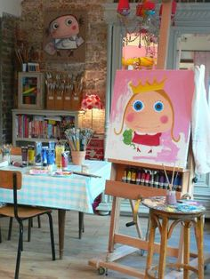 Art Studio Storage, Studio Organization, Kids Room Art, Art For Kids, Coin D'art, Alice, Art Studio Design, Atelier D Art, Creative Labs