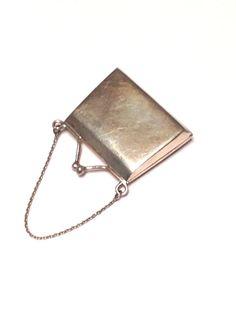 Curious Vintage Sterling Silver Handbag Purse Pill Box 12 8 grams not Scrap | eBay