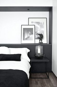 6 Fascinating Unique Ideas: Traditional Minimalist Home Light Fixtures minimalist bedroom tips simple.Minimalist Bedroom Interior Minimalism minimalist home exterior floor plans.Minimalist Home White Simple Bedrooms. Stylish Bedroom, Modern Bedroom, Master Bedroom, Monochrome Bedroom, Contemporary Bedroom, Bedroom Wall, Girls Bedroom, Dream Bedroom, Bedroom Simple